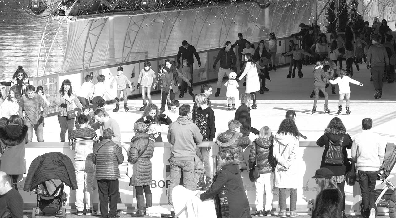 Pista de patinaje sobre hielo en Bilbao
