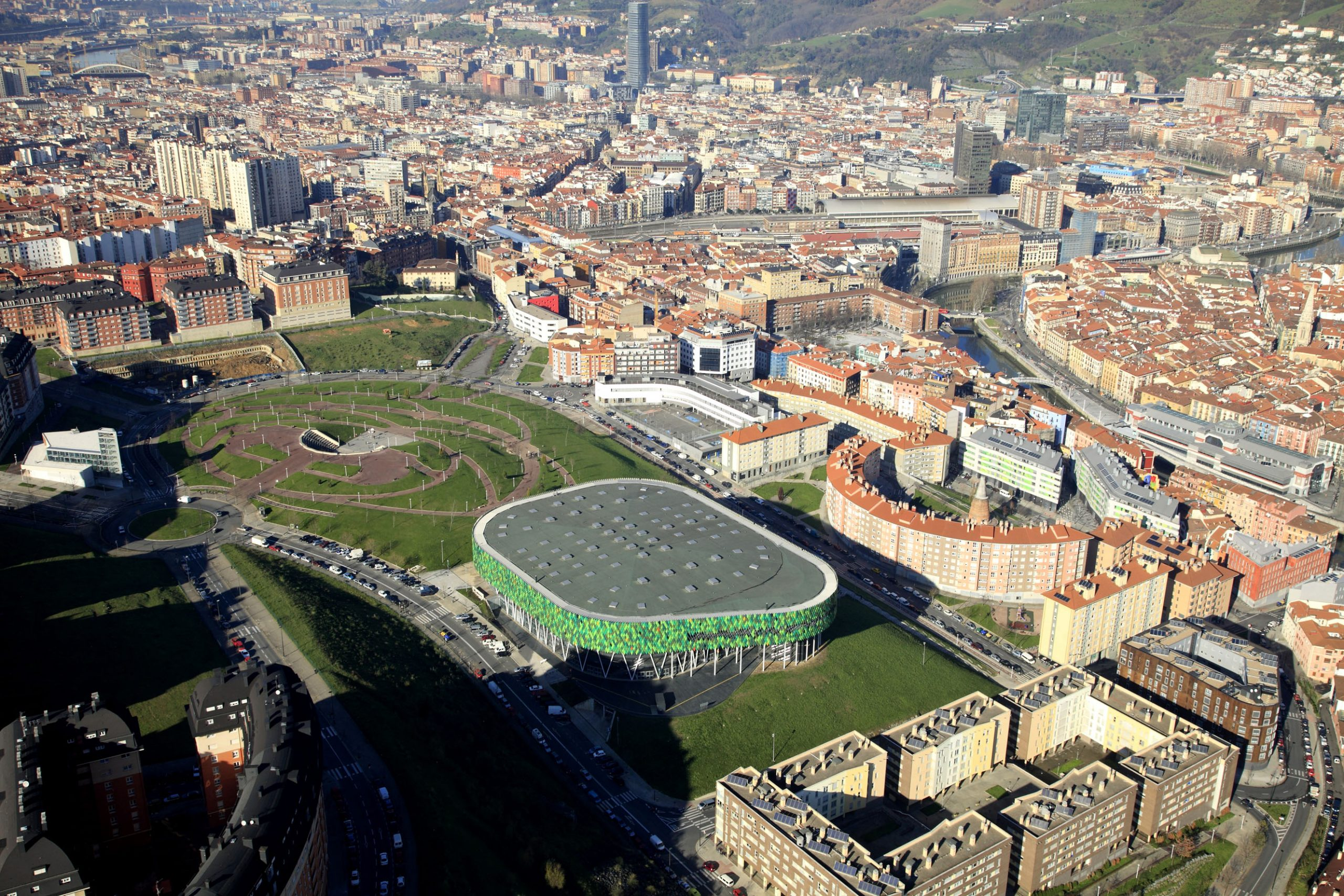 Bilbao Arena. Imagen aérea.